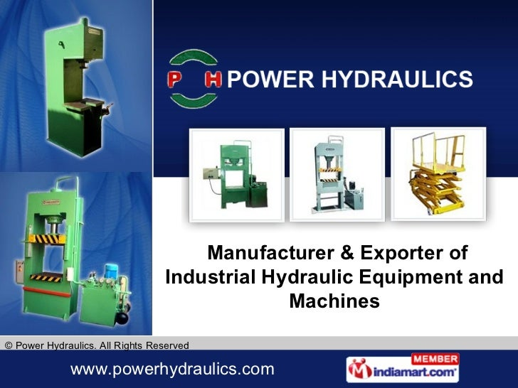 Manufacturer & Exporter of Industrial Hydraulic Equipment and Machines