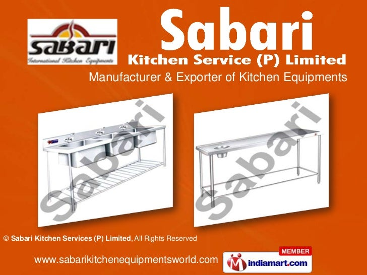 Manufacturer & Exporter of Kitchen Equipments© Sabari Kitchen Services (P) Limited, All Rights Reserved         www.sabari...