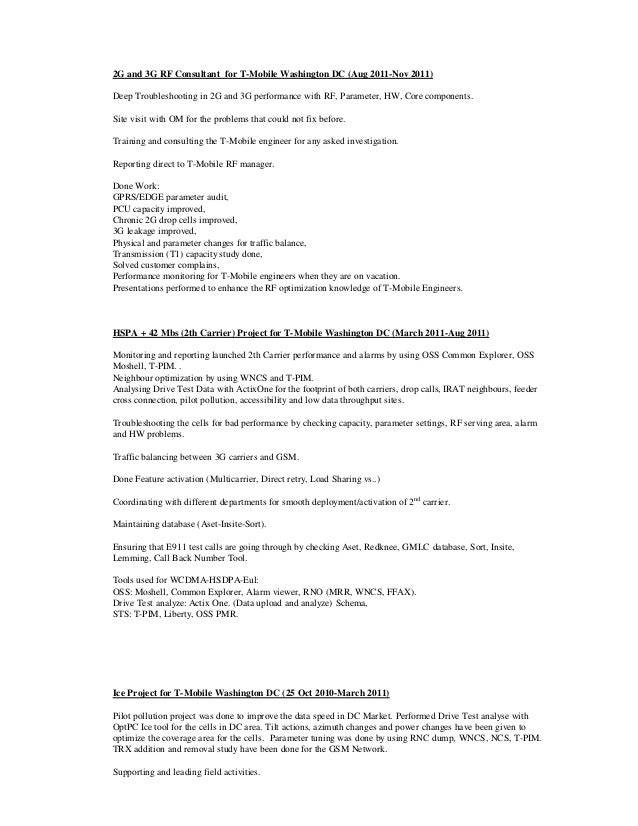 Job mobile resume t