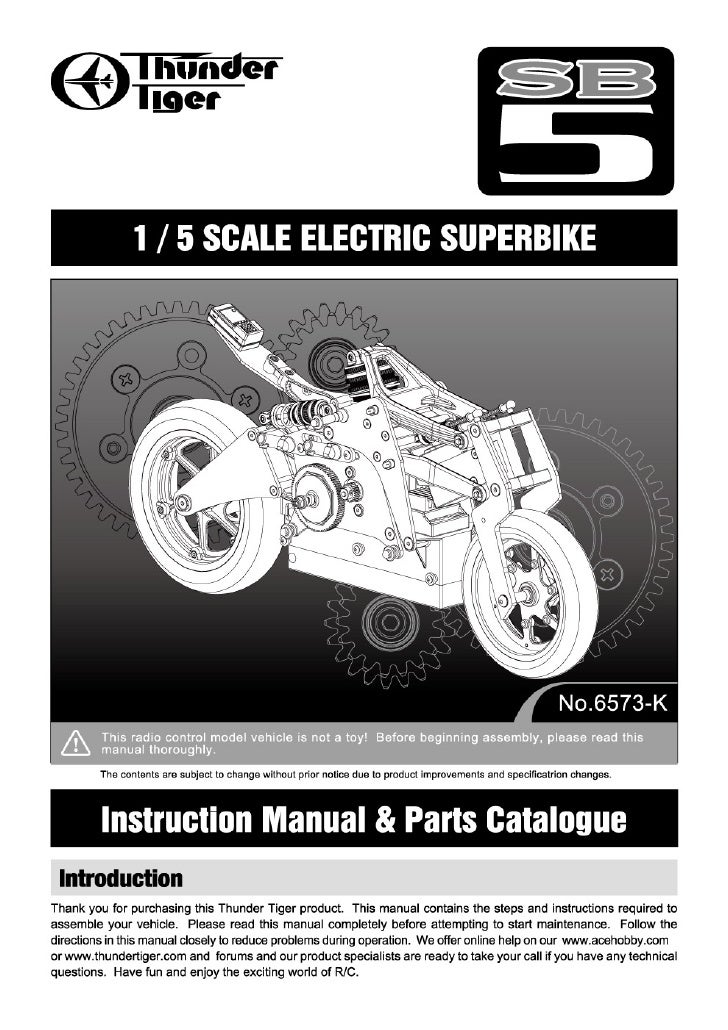 Manuale SB5 Pro Kit elettrica Competition