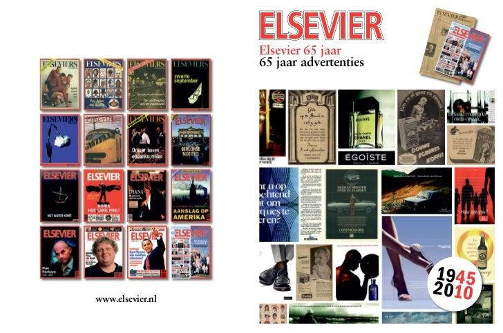 Elsevier 65 jaar - 65 jaar advertenties