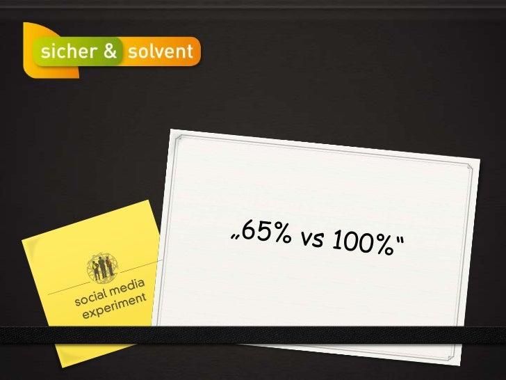 """""""65% vs 100%""""<br />"""