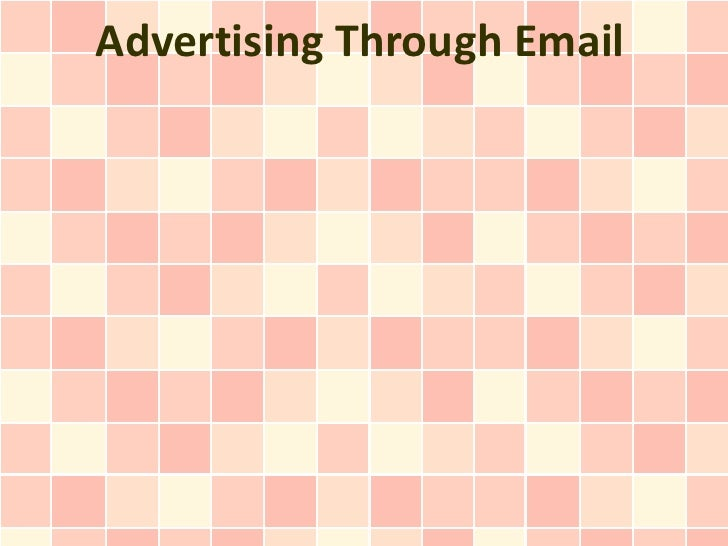 Advertising Through Email
