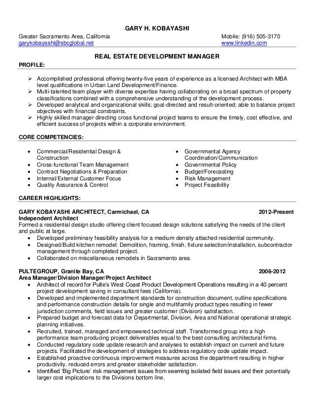15 0222 resume development manager