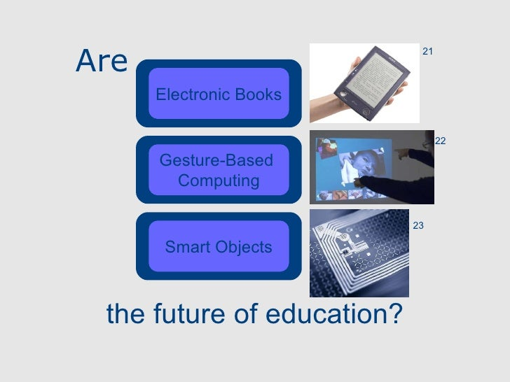 Are Electronic Books Gesture-Based  Computing Smart Objects the future of education? 21 22 23