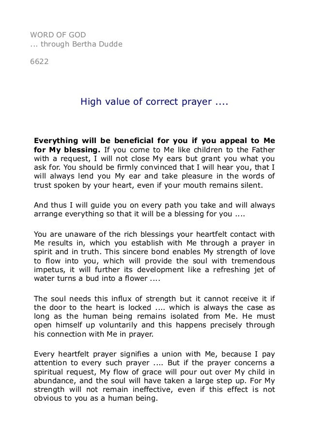 value of prayer essay