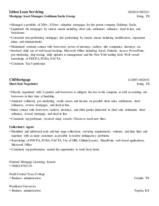 goldman sachs resume 05052017