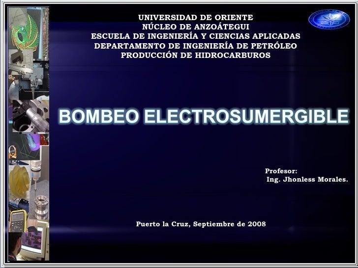 c UNIVERSIDAD DE ORIENTE NÚCLEO DE ANZOÁTEGUI ESCUELA DE INGENIERÍA Y CIENCIAS APLICADAS DEPARTAMENTO DE INGENIERÍA DE PET...