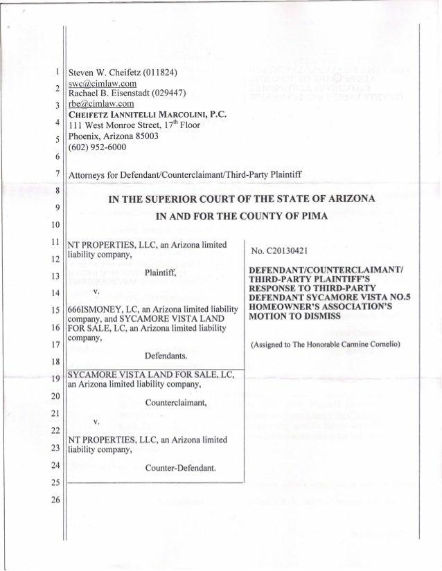 7 Attorneys for Defendant/CounterclaimantiThird-Party Plaintiff6Steven W. Cheifetz (011824)swc@cimlaw.com2 Rachael B. Eise...