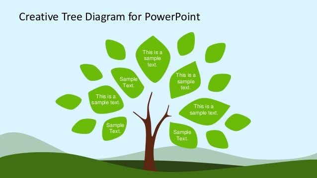 creative tree diagram powerpoint template design   creative tree diagram