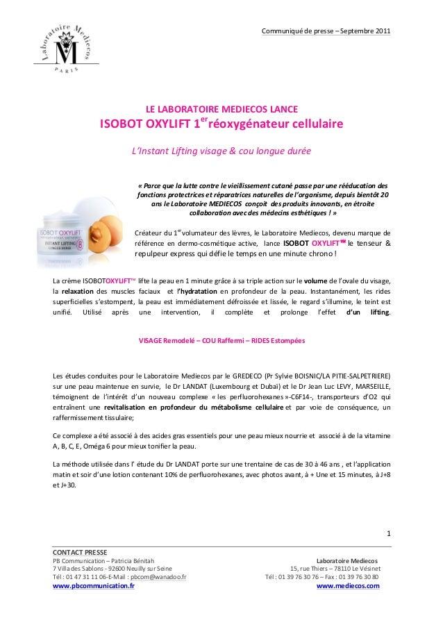 Communiqué  de  presse  –  Septembre  2011         CONTACT  PRESSE        PB  Communication  –...