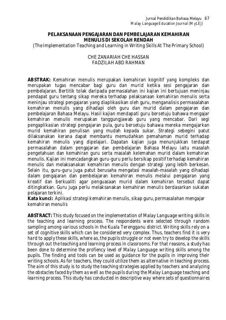Jurnal Pendidikan Bahasa Melayu 67                                                     Malay Language Education Journal (M...