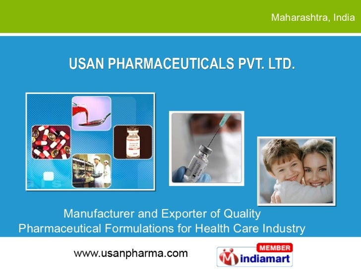 Maharashtra , India Manufacturer and Exporter of Quality  Pharmaceutical Formulations for Health Care Industry