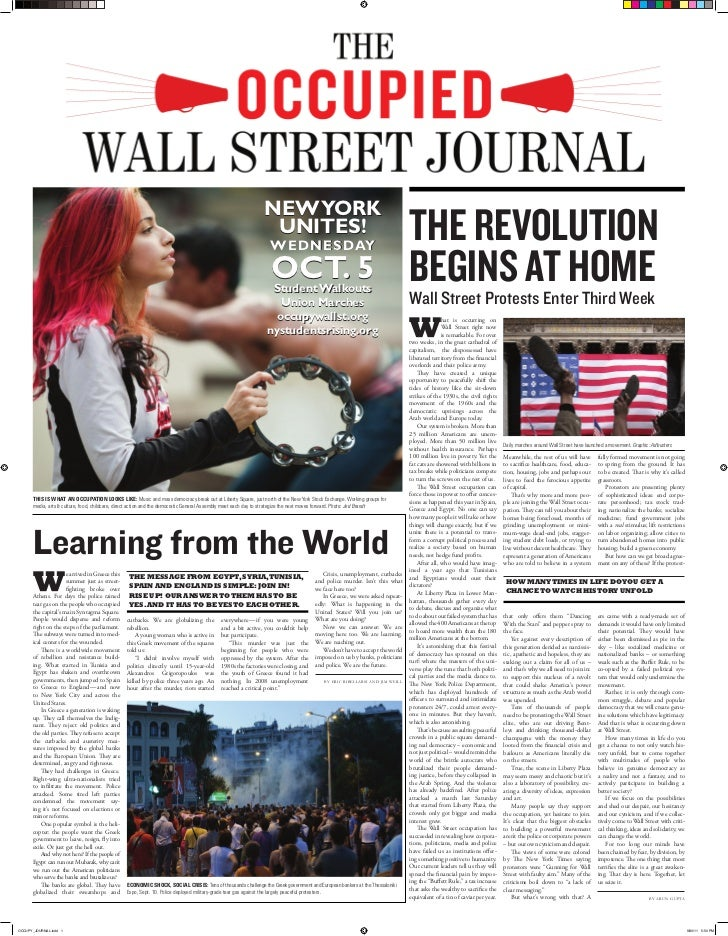 Occupied Wall Street Journal