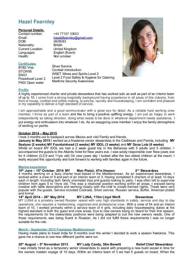 Example of a Good CV  European Resources