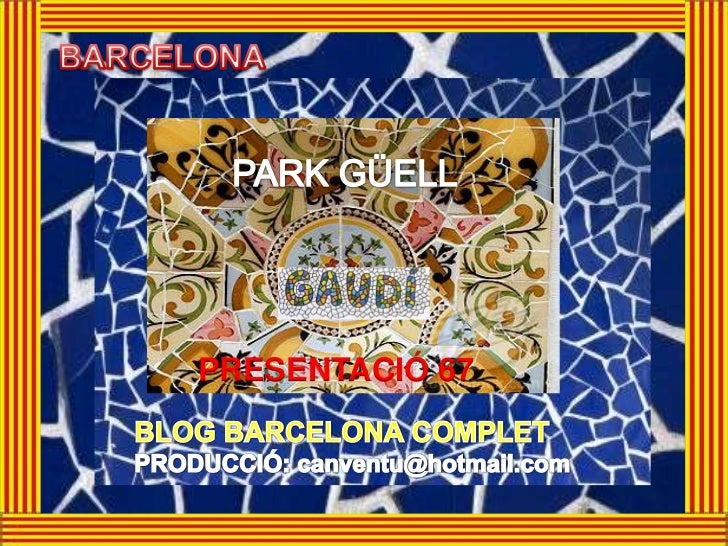 BARCELONA 51 PARK GÜELL - ENGLISH