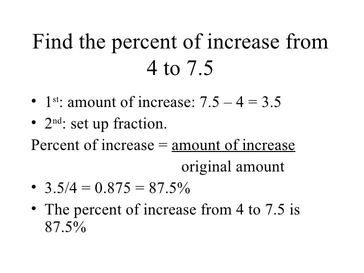 how to find the total of a percentage