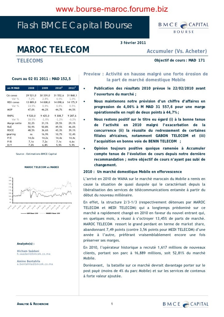 www.bourse-maroc.forume.biz                   Flash BMCE Capital Bourse                                                   ...