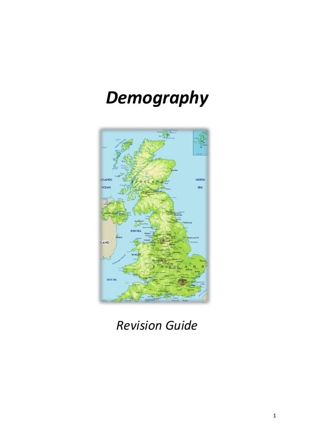1 Demography Revision Guide