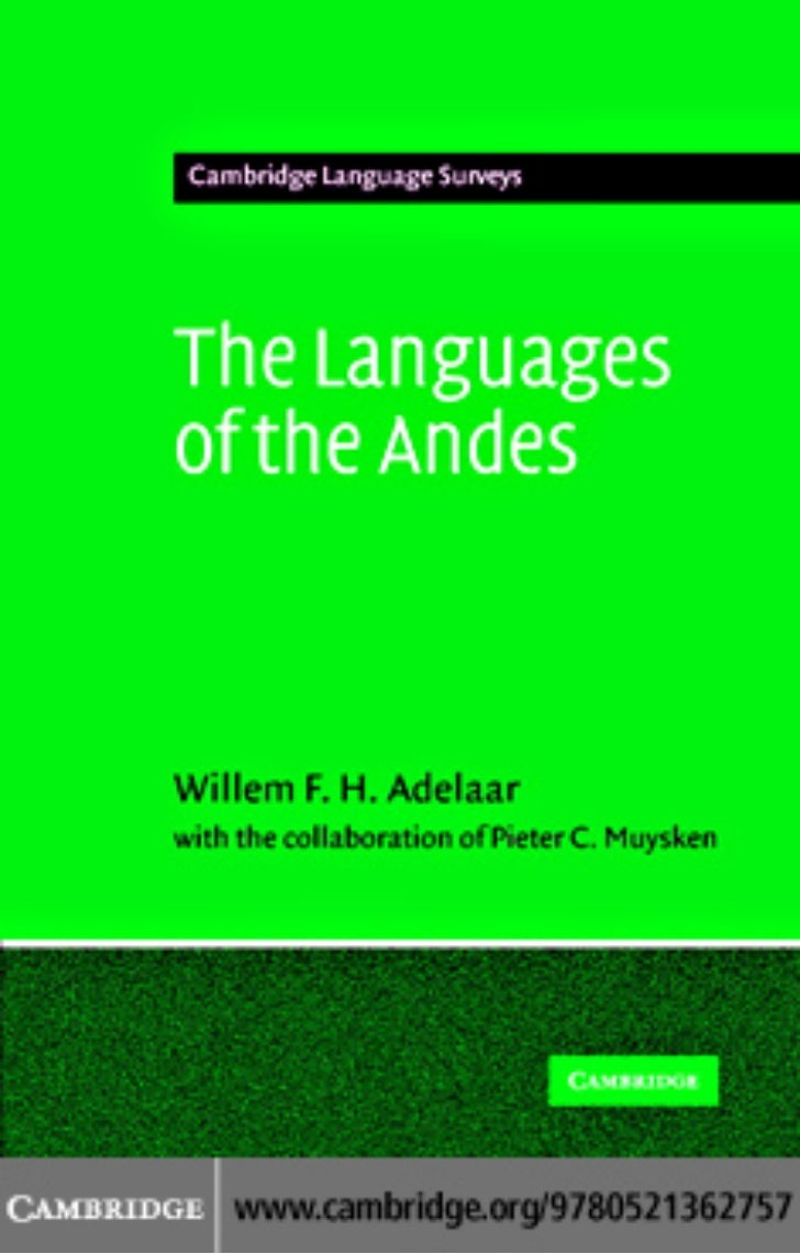 Languages Of The Andes