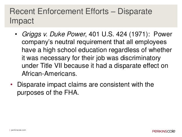 griggs v duke power company December 14, 1970, argued march 8, 1971, decided mr chief justice burger delivered the opinion of the court [1]we granted the writ in this case to resolve the.
