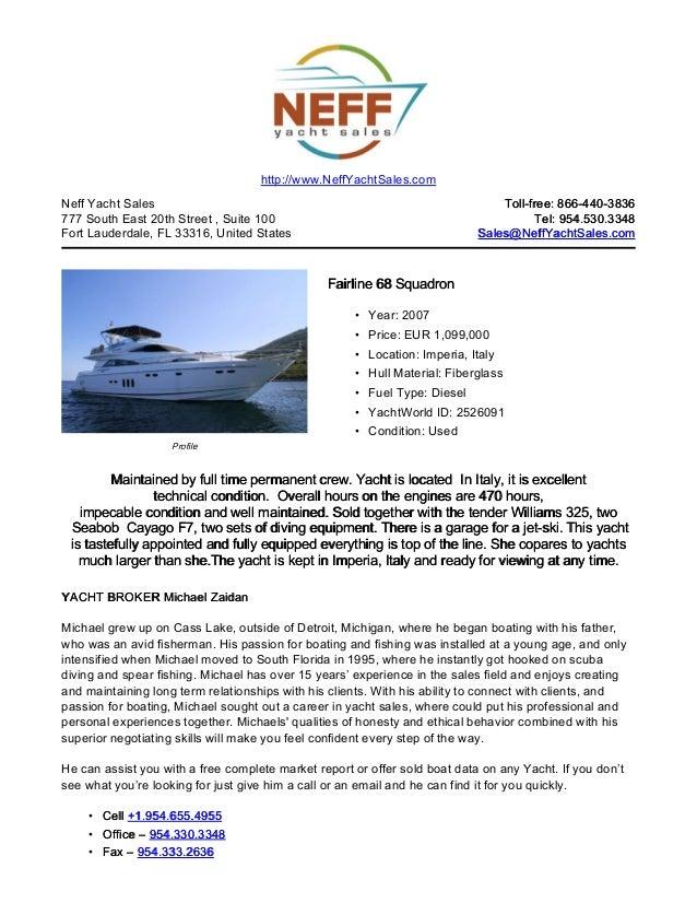 68' 2007 fairline 68 squadron 2007 yacht for sale   neff yacht sales