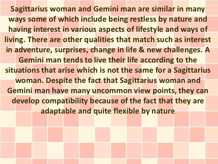 gemini man dating a sagittarius woman