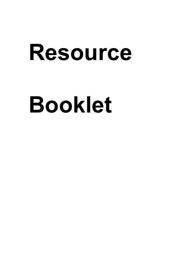 ResourceBooklet