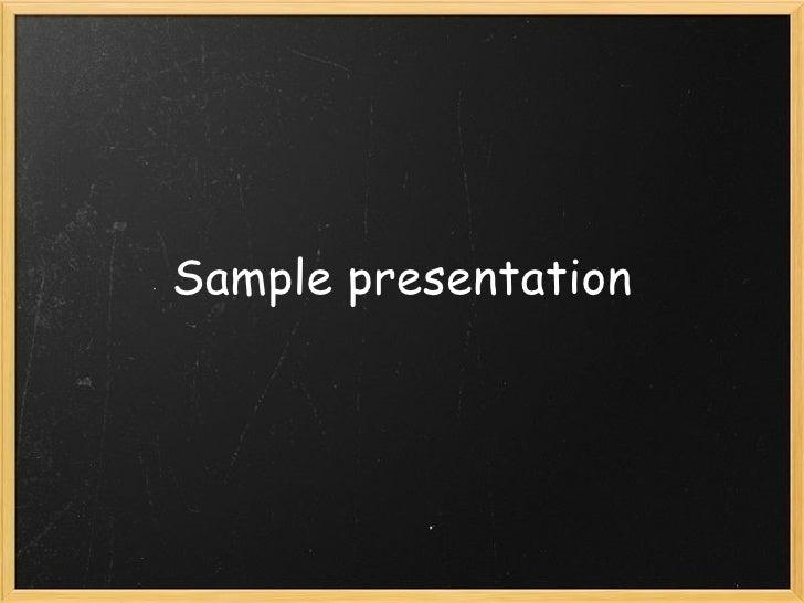 Sample presentation