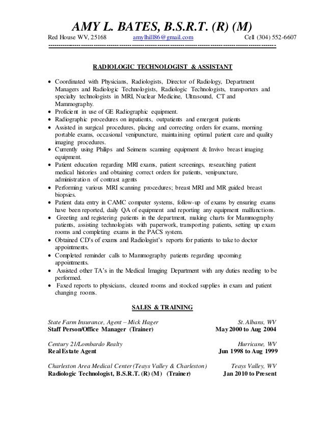 Delightful Medical Resume Sample Radiologic Technologist Resume Radiologic. Medical  Resume Sample ...