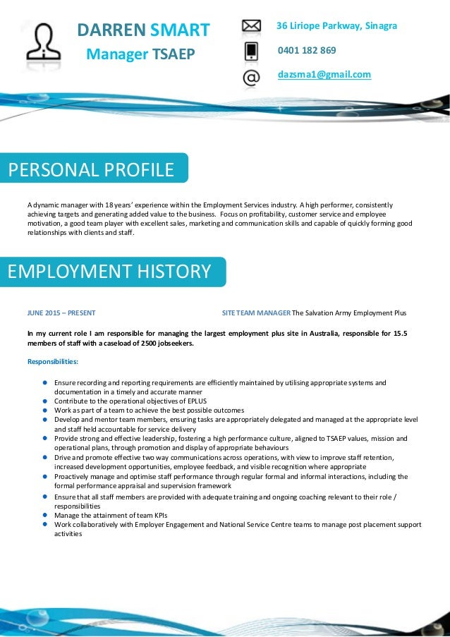 darren smart resume