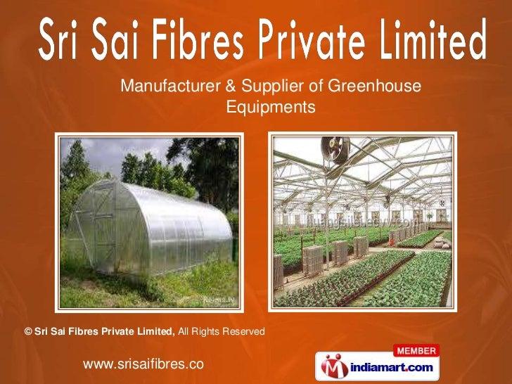 Sri Sai Fibres Private Limited  Andhra Pradesh India
