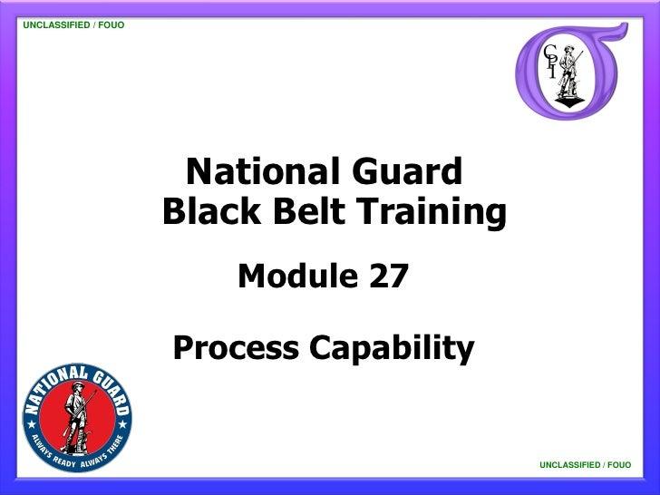 NG BB 27 Process Capability