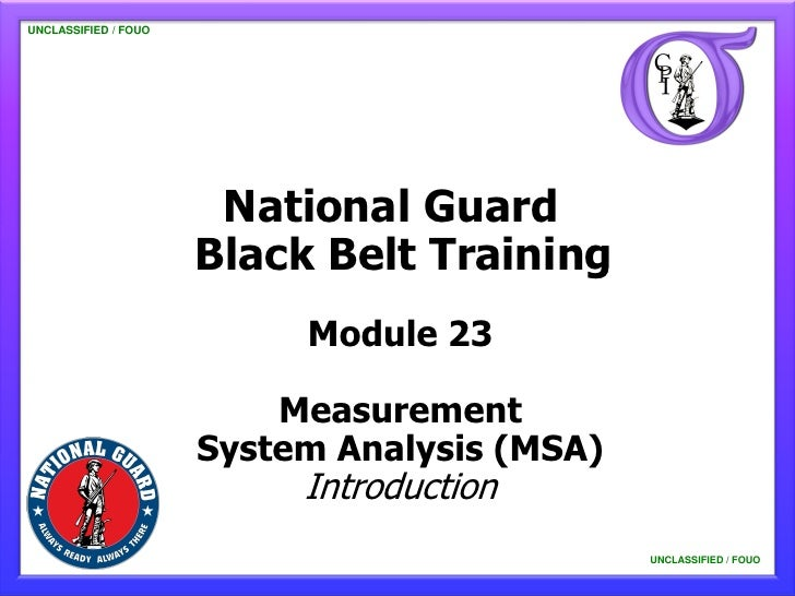 NG BB 23 Measurement System Analysis - Introduction