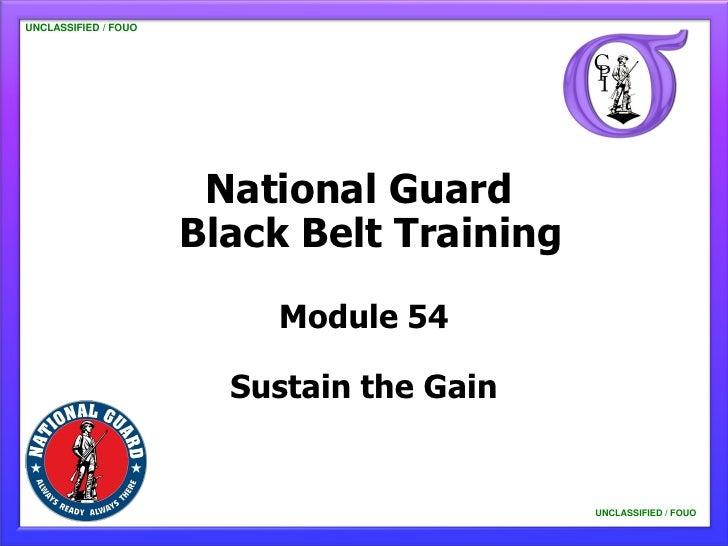 UNCLASSIFIED / FOUO                       National Guard                      Black Belt Training                         ...