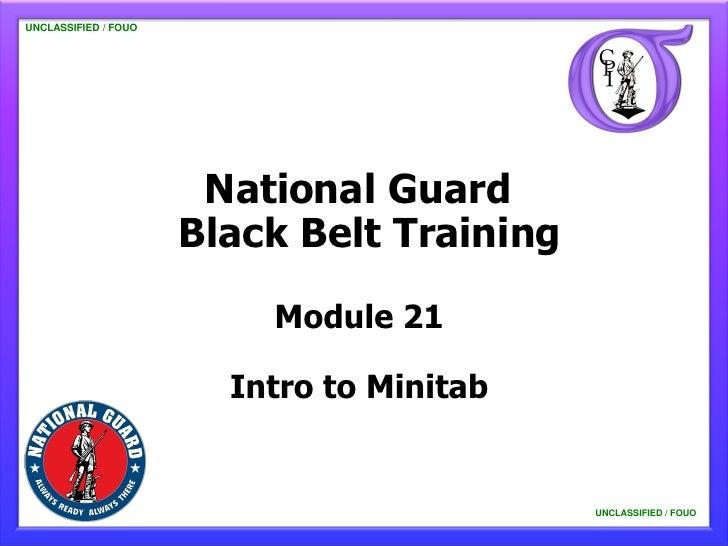 NG BB 21 Intro to Minitab