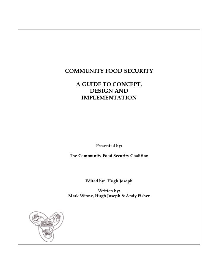 Community Food Security: : A Guide to Concept, Design, and Implementation
