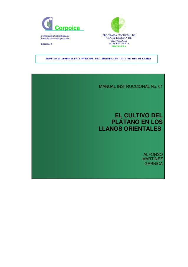 CorpoicaCorporación Colombiana de            PROGRAMA NACIONAL DEInvestigación Agropecuaria             TRANSFERENCIA DE  ...