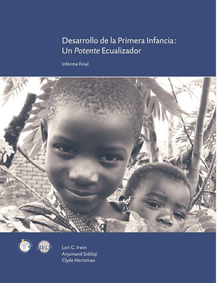 Desarrollo de la Primera Infancia :                                                Un Potente Ecualizador                 ...