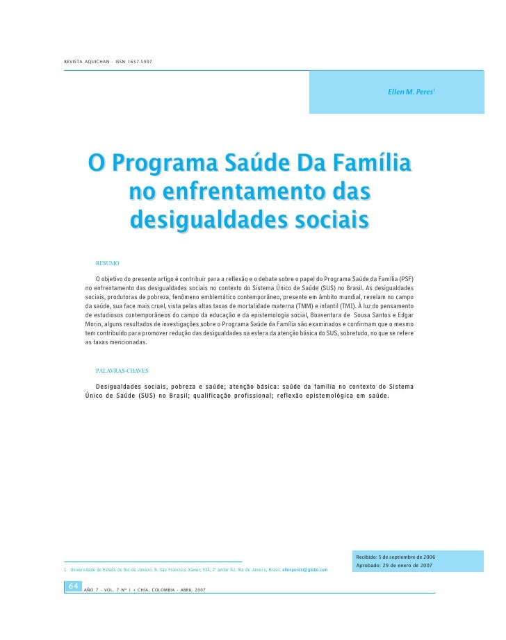 PSF E DESIGUALDADES
