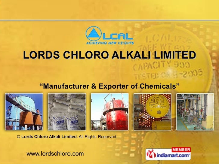 """LORDS CHLORO ALKALI LIMITED """" Manufacturer & Exporter of Chemicals"""""""