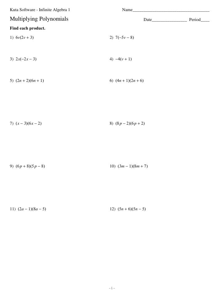 Subtracting Polynomials Worksheet Answer Key 7 6 skills practice – Subtracting Polynomials Worksheet