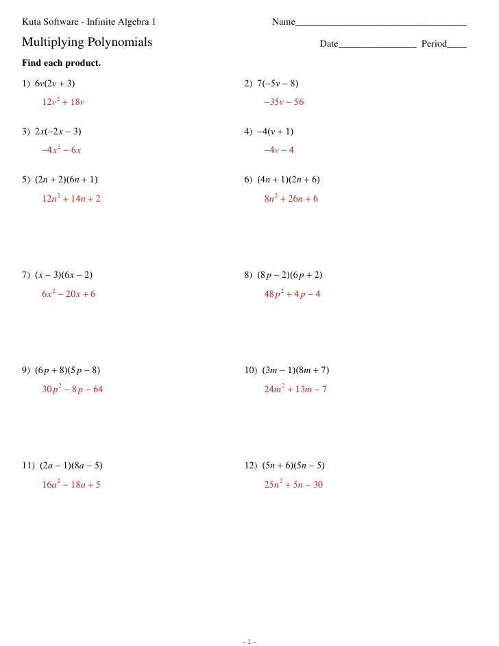 Printables Multiply Binomials Worksheet worksheet 6 3 multiplying polynomials binomials polynomials
