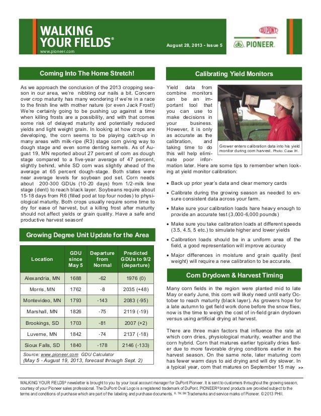 Western MN and eastern SD Walking Your Fields newsletter-August