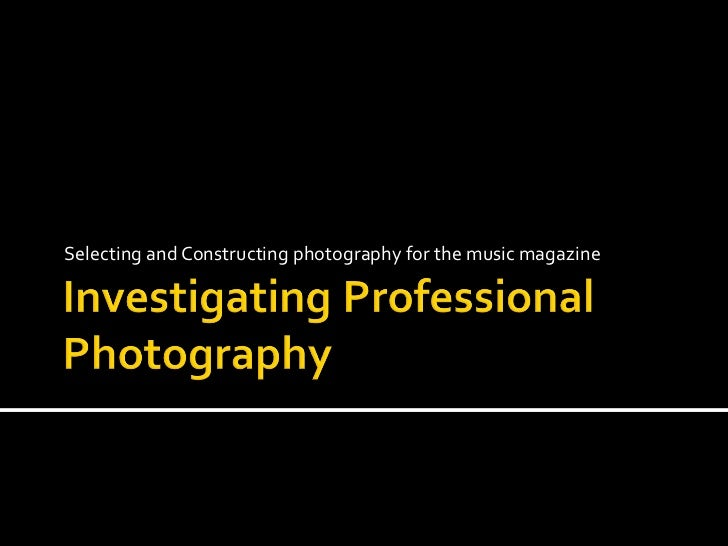 Professional photography presentation.