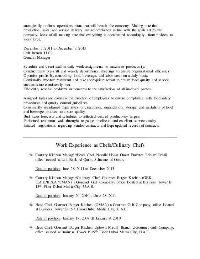restaurant gm resume