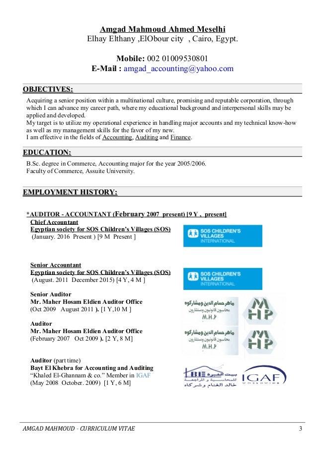 amgad curriculum vitae senior accountant