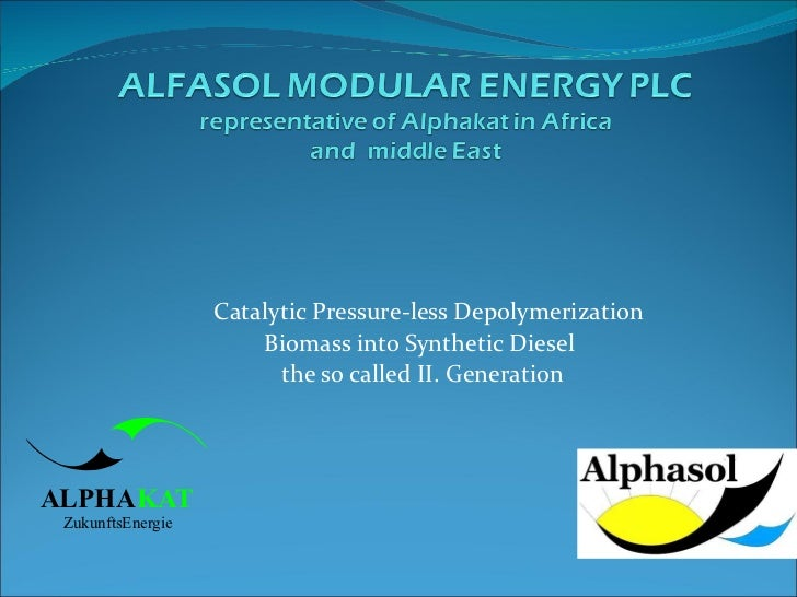 Catalytic Pressure-less Depolymerization  Biomass into Synthetic Diesel  the so called II. Generation