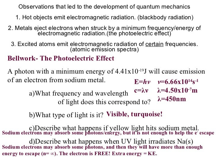 Electrons in atoms worksheet answers chapter 5 1