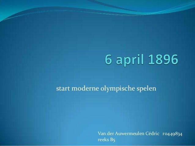 6 april 1896